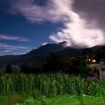 Nocny widok z Sunny Guest House w Duoyishu